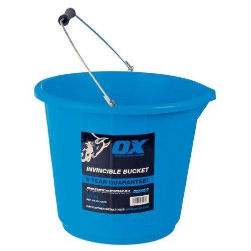 Ox P110515 Pro Invincible Builders Bucket 15 Litre Blue