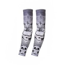 UV Sun Protection Arm Sleeves Breathable Long Sleeves To Cover Arms, Skull (F)