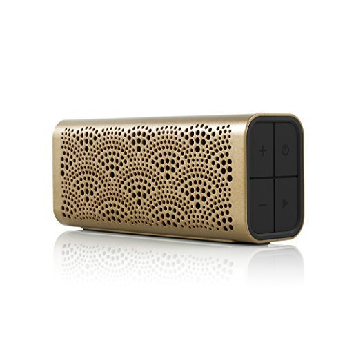 BRAVEN LUX Portable Wireless Bluetooth Speaker 12 Hr Playtime Water Resistant Built In 1400 mAh Power Bank Charger Gold