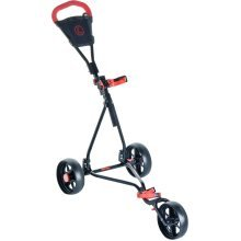 3 Wheel Adjustable Junior Golf Trolley - Longridge Kids Cruiser Black -  trolley golf longridge 3 wheel kids cruiser black