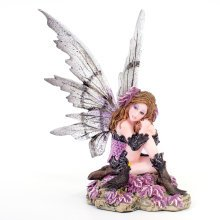 Heather Fairy with Blackbird