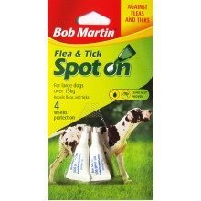 Dog Larger Puppy BOB MARTIN Spot On Flea And Tick Treatment Over 15Kg
