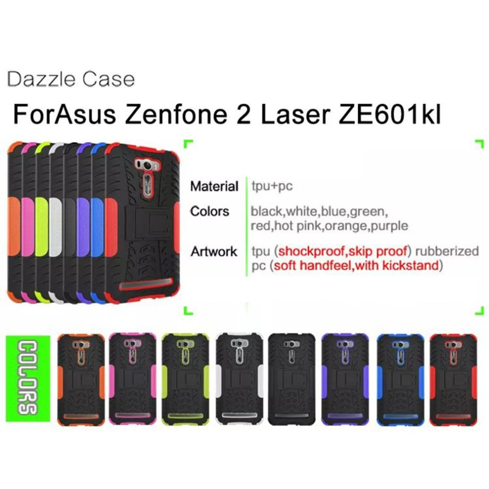 FaLiAng Asus ZenFone 2 Laser ZE601KL (6 inch) Case, Dual Layer Armor Combo  Shockproof Heavy Duty Shield Hard Case Cover for Asus ZenFone 2 Laser