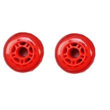Set of Two PU Inline Skate Wheels Roller Skate Wheels 80MM Red