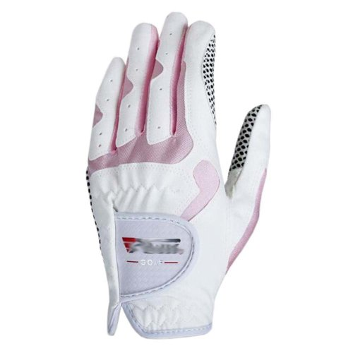 Classic Simple Design Women Golf Gloves Non-slip Sport Gloves(White&Pink) #18