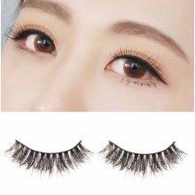 Handmade Natural Mink Fur Eye Lashes Long Cross False Eyelashes Makeup
