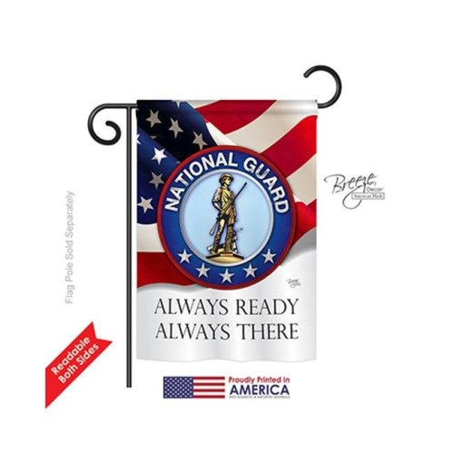 Breeze Decor 58020 Military National Guard 2-Sided Impression Garden Flag - 13 x 18.5 in.