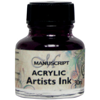 Manuscript Acrylic Artists Ink 30ml-Purple Lake