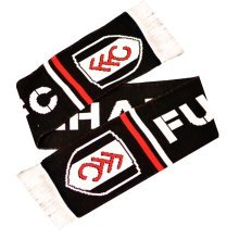 Fulham Named Scarf - Fc Ffc Warm Fun Fan Gift Black New Official Licensed -  fulham fc scarf named ffc warm fun fan gift black new official licensed