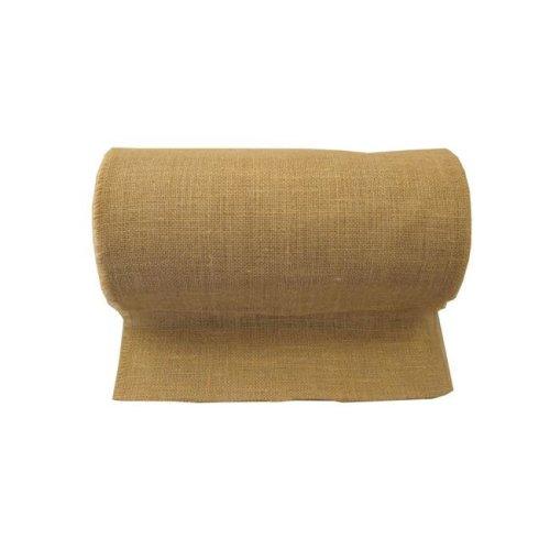 LA Linen 15IN-Burlap-25Yard 25 Yards Burlap Fabric, Natural - 15 in.