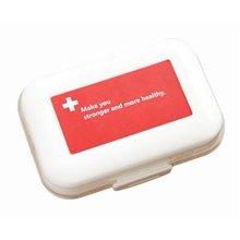 Decent Mini Portable Pill Organizer Classical Pill Case-Red