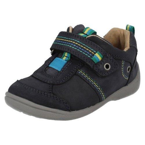 Infant Boys Startrite First Walking Shoes Super Soft Zac - Navy Leather - UK Size 3H - EU Size 19 - US Size 4