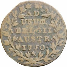 Austrian Netherlands 1750 2 Liards  2 Oorden Maria Theresia Coin