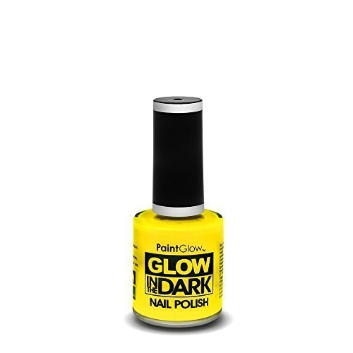 Glow In The Dark Nail Polish, Yellow, 10ml - Polish Paint Neon Varnish Bright -  glow nail dark polish paintglow neon varnish bright fluorescent