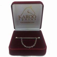 Karoo Collar Pin with Chain - Silver