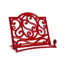 Cast Iron Cookbook Stand, Red