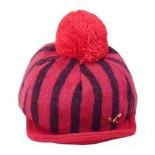 Stylish Baby Woolen Cap Winter Baseball Cap for Kids Stripe Red
