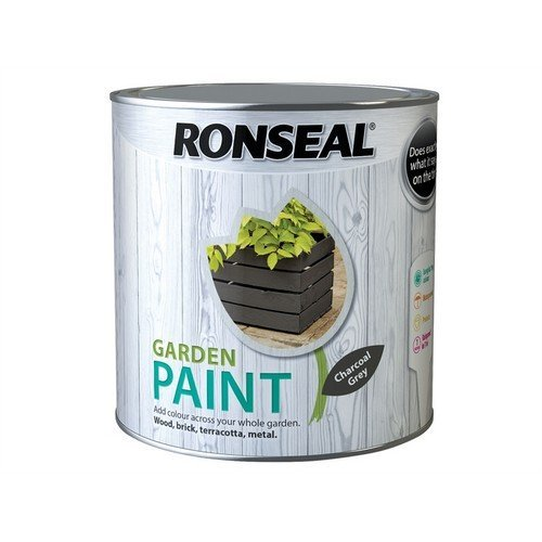 Ronseal 38509 Garden Paint Charcoal Grey 2.5 Litre