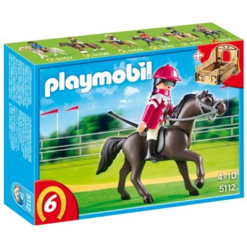 PLAYMOBIL Arabian Horse with Jockey and Stable