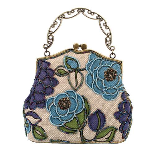 Women's Vintage Style Clutch Evening Bag Elegant  Luxurious Handbag Purse-Banquet-Cocktail Party,J