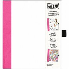 K & Co Smash: White With Pink Binder -  smash white pink binder kco 30685987 d30685987