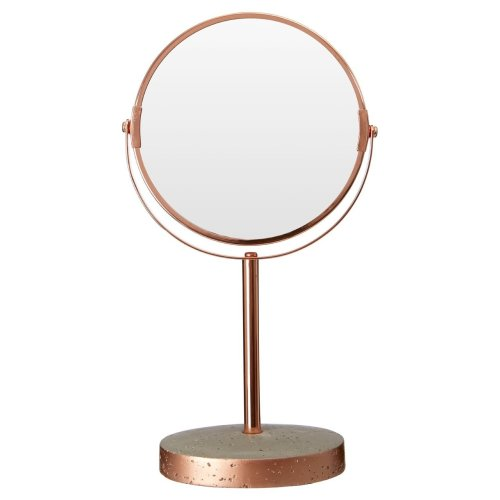 Neptune Copper Bathroom Mirror | Round Swivel Table Mirror