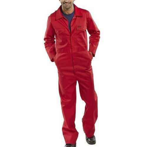 """Click PCBSRE36 Polycotton Boiler Suit Red 36"""""""