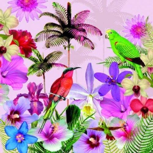 4 x Paper Napkins - Tropical - Ideal for Decoupage / Napkin Art