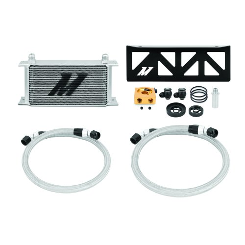 Mishimoto Subaru BRZ / Scion FR-S Oil Cooler Kit, 2013+, Silver Thermostatic