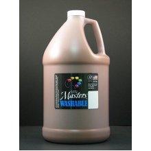Handy Art Little Masters Washable Tempera Paint Gallon, Brown