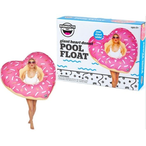 BigMouth Inflatable Giant Heart Donut Pool Float Beach Holiday Swimming Lounger Water Beach