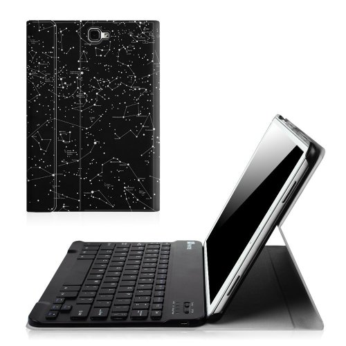 Fintie Samsung Galaxy Tab A 10.1 Keyboard Case - SlimShell Light Weight Stand Cover with Magnetically Detachable Wireless Bluetooth Keyboard for...