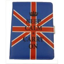 Kindle Cover - Keep Calm - Union Jack
