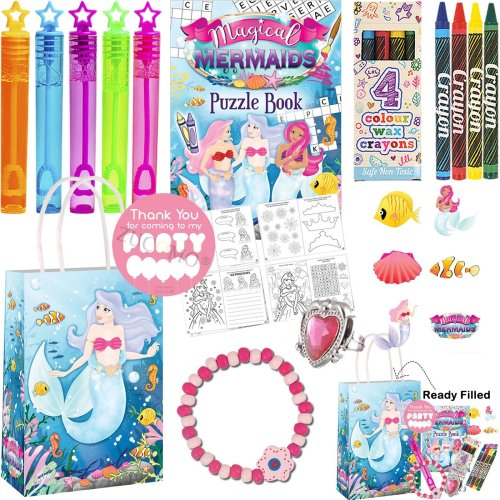 6 x Mermaid Puzzle Activity Book Fun Party Bag Toy Favour