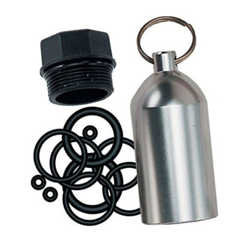 Innovative Scuba Concepts Scuba Diving Tank O Ring Dive Kit Keychain With Pick Silver