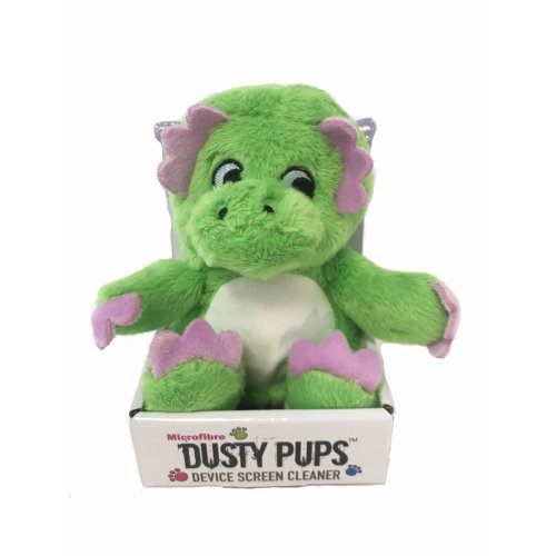 Warmies Dusty Dinosaur Pups Screen Cleaner Microfibre Wipe Phone iPhone Tablet