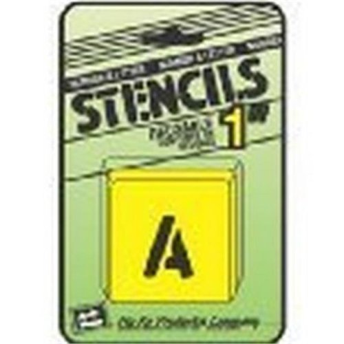 Merchandise 65225808 Hy-Ko ST-1 Number & Letter Stencils Reusable, Water Resistant, 1 in.