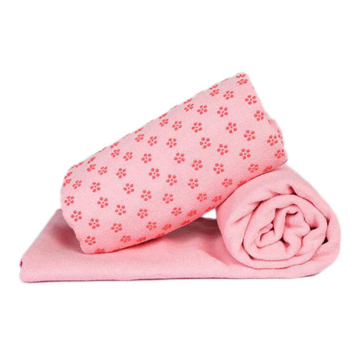 Indoor Sport Non-slip Yoga Sheet Blanket Yoga Towel Yoga Accessory 183 CM * 63 CM-Pink