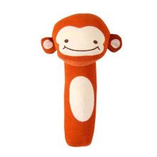 Lovely Animals Baby Rattles Toy Baby Gift  Hand Grasp Rattle, Monkey