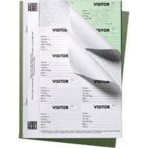 Nobo Visitor Badge Book Black, 25 sheets