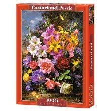 Csc103607 - Castorland Jigsaw 1000 Pc - a Vase of Flowers