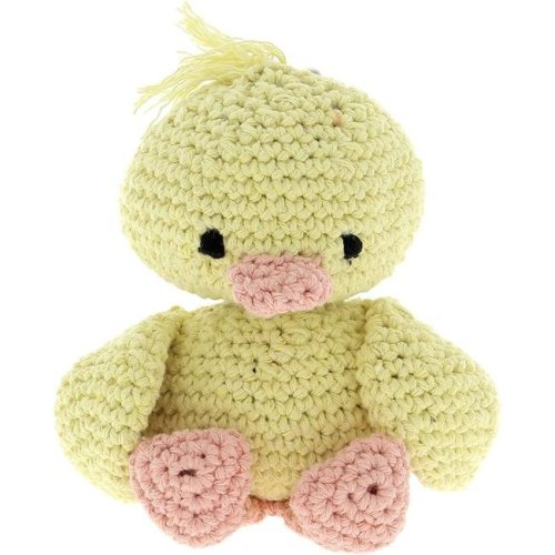Hoooked PAK131 Duckling Crochet Yarn Kit, Yellow & Peach