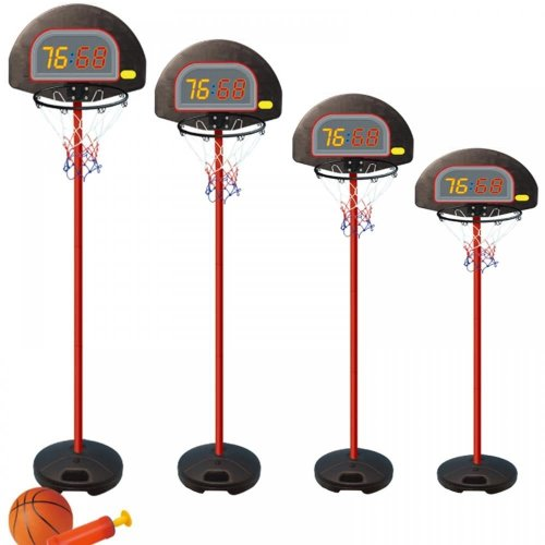 Adjustable 4 Sizes Portable Childrens Basketball Net Hoop Backboard Stand Set