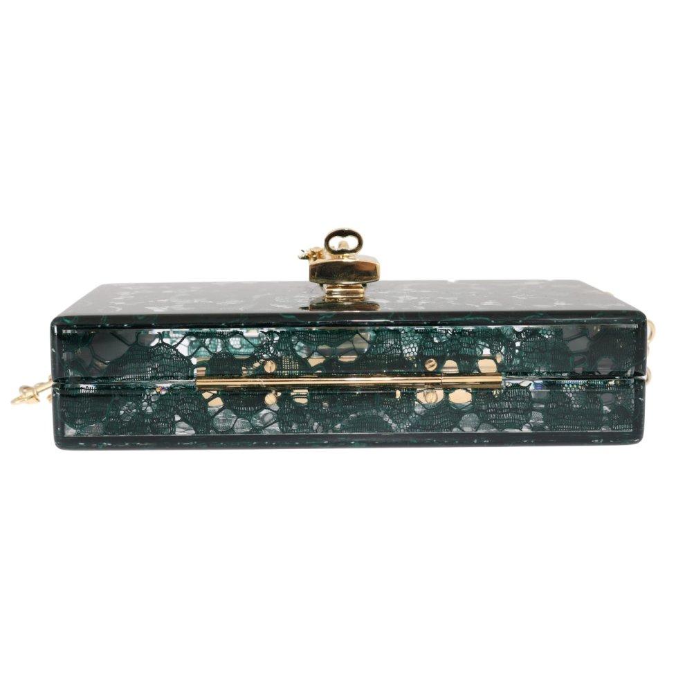 33903b2c53 Dolce & Gabbana Green Taormina Lace Crystal Clutch Bag on OnBuy