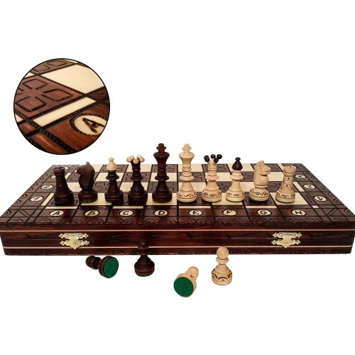 SENATOR DELUXE 41cm / 16in Wooden Decorative Chess Game, Handcrafted Classic Game
