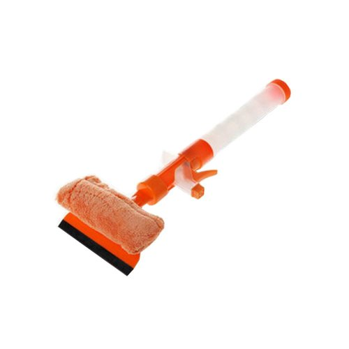 Orange Window Glass Cleaner Wiper Squeegee Car Wash Brush Cleaning Tool
