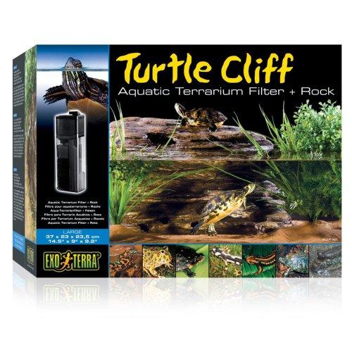 Exo Terra Turtle Cliff Aquatic Terrarium Filter & Rock Large