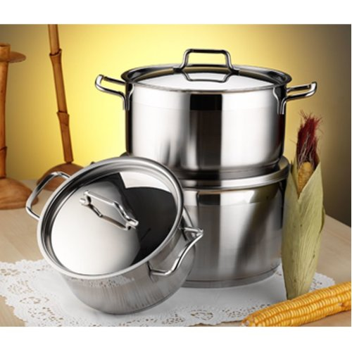 High Quality Stainless Steel Stockpot With Induction Base
