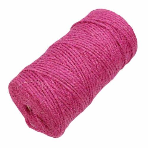 Pink 2 Piece x 328 Feet - 2mm Jute Twine Packing String DIY Crafts Decor Rope