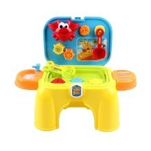 Beach Toys KIT For Summer Activities - Handy Carrycase & Stool 2in1 With Accessories Included